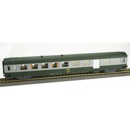 VOITURE UIC B5D Vert garrigue - Alu - Logo encadré livrée 160, Ep.IV (Retirage - Nouveau Numéro)