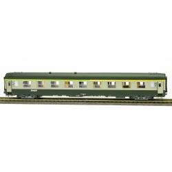 VOITURE UIC A4B5ex-A9 Vert garrigue-Gris béton, Logo nouille, Cartouche Corail Ep.V