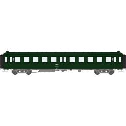 COFFRET 3 VOITURES « Bacalan » B11 châssis gris, toit vert, logo encadré blanc, cart.Corail Ep.IV SNCF