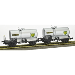 "SET de 2 Wagons Citernes OCEM 29 Ep.III SNCF ""ALGECO BP"" avec Plaque Métal BP"