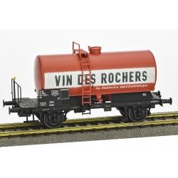 "Wagon Citerne OCEM 29 Ep.IV SNCF ""VIN DES ROCHES"" avec plateforme"