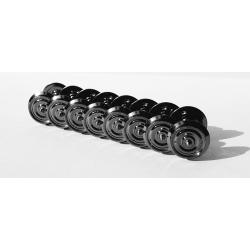 Essieux AC 3 RAILS (8 pièces) Wagons OCEM D 1050 - Axe 24,3