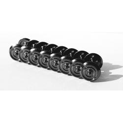 Essieux AC 3 RAILS (8 pièces) Wagons Bogies - Voitures Voyageurs D 920 - Axe 24,3