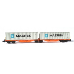 N - Porte-containers Sggrss 80 DB Orange + 2 Containers MAERK - Ep. VI