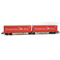 N - Porte-containers Sggrss 80 AAE Gris Nouveau Logo + 2 Containers HAMBURG - Ep. VI