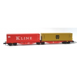 N - Porte-containers Sggrss 80 DB Rouge + 1 Container KLINE + 1 Container MSC - Ep. VI