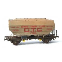 """Wagon Céréalier RICHARD - CTC Ep.III """"ESMERY-CARON"""" Patiné"""