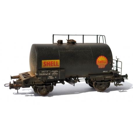 "WBE001 - Citerne 2 essieux ex-DR SNCF ""SHELL"""