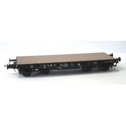 Wagon Porte-char SSy45 Noir avec bogie allemand, SSyw 18444, Ep.III A