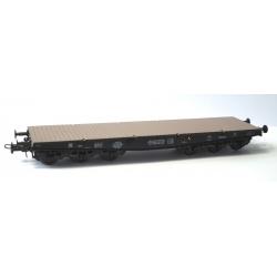 Wagon PLAT Charges Lourdes Porte-char SSym46, Noir avec 6 essieux, 99515, Ep.III A