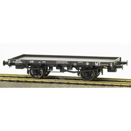 PLATS Origine PLM - wagon avec frein à levier, boite PLM, 1 roue à rayons 1 roue pleine n°IP999518 MT SNCF