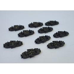 XB952 - Attelages Courts Magnétiques Norme NEM 363 - Sans fils 10 pièces Longueur M : Norme + 0.3mm
