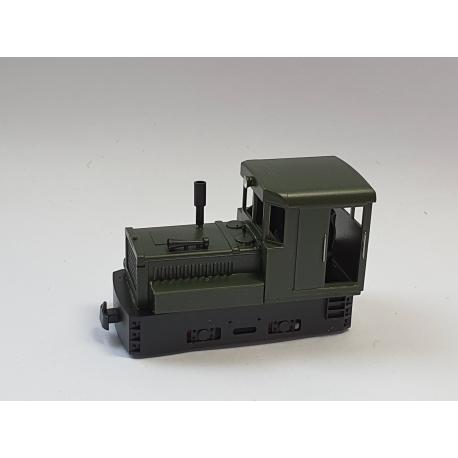 Locotracteur Plymouth, Vert, Châssis noir avec réservoir