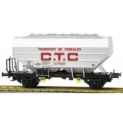 """Wagon céréalier RICHARD """"CTC COTRAM"""" Aluminium Ep.III"""