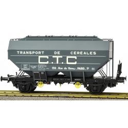 """Wagon céréalier RICHARD """"CTC"""" Gris Foncé Ep.III"""