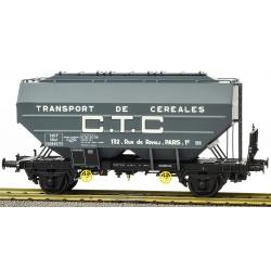 """Wagon céréalier RICHARD """"CTC"""" Gris Foncé Ep.III (Autre Numéro)"""