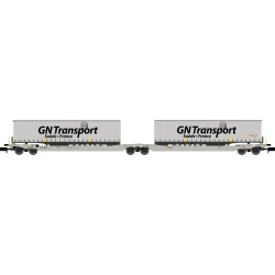 Twin car Sdggmrs AAE Cargo + 2 remorques GN TRANSPORT – Ep.V-VI