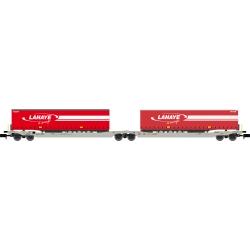 Twin car Sdggmrs AAE Hupac Intermodal + 2 remorques LAHAYE – Ep.V-VI