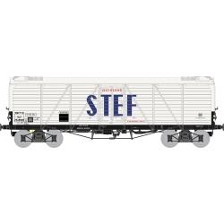 Wagon TP FRIGO Reconstruit à Trappes à glace SNCF STEF lettres Bleues Ep.III