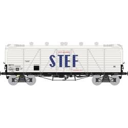 Wagon TP FRIGO Reconstruit à Trappes à glace et Aérateurs SNCF STEF lettres Bleues Ep.III