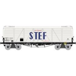 Coffret de 3 Wagons TP FRIGO Reconstruit à Trappes à glace / Aérateurs SNCF STEF lettres Bleues Ep.III
