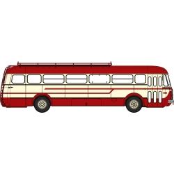 Autocar R4190 Rouge et Crème - Transport Mousset - Longwy (54)