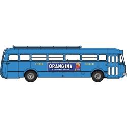 """Autocar R4190 Bleu - Publicité """"Orangina"""" - Hyères/Toulon (83)"""