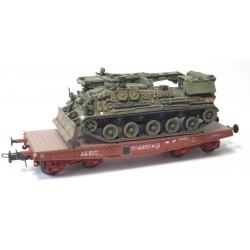 """Porte-char Rlmmp SNCF Ep.IV Bogie Y27+char AMX 30D DEPANNEUR 1 DB """"ATHOS"""""""