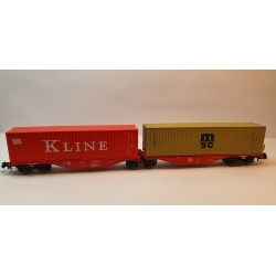 Sggrss 80 DB Rouge + 1 Container KLINE et 1 Container MSC