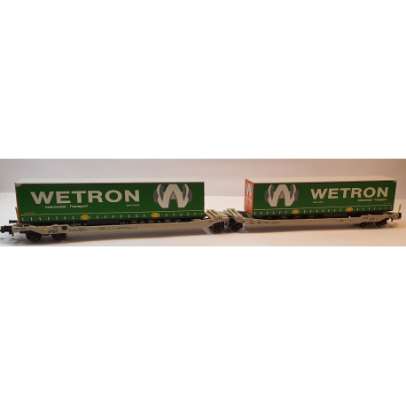 Sdggmrs T AAE Cargo HUPAC intermodal + 2 trailers WETRON