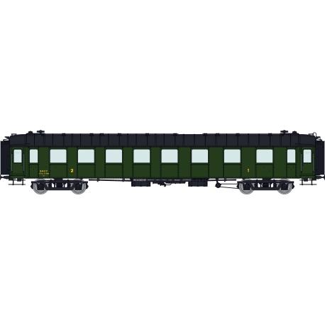 SET de 3 Voitures OCEM RA Toit noir (A3B5myfi 3469 / C9myfi 12114 / B4Dmyi 12338) SNCF Ep.III