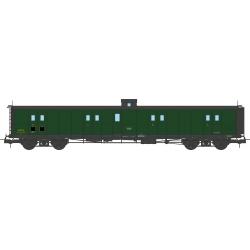 Fourgon à Bogie Ep.III SNCF Vert 306 Toit Noir Bout Noir Guérite échelle