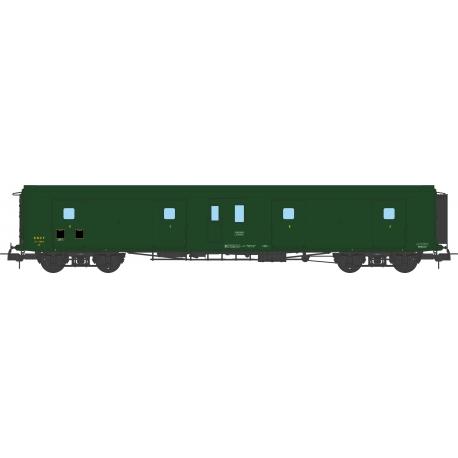 Fourgon à Bogie Métallisé Ep.III SNCF Vert 306 (Feux Fonctionnels)
