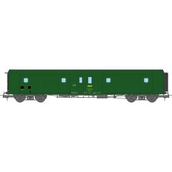 Fourgon à Bogie Métallisé Ep.IV SNCF Vert 301 (Feux Fonctionnels)