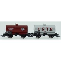 """CITERNE Châssis OCEM 19 Ep.III SET de 2 Wagons """"CGTE"""""""