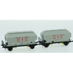 "Céréaliers FRANGECO Ep.III SET de 2 wagons ""CTC"""