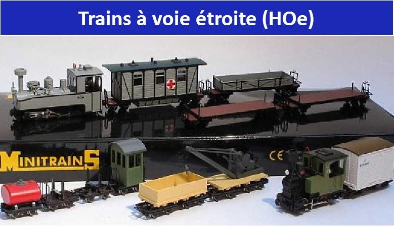 Trains à voie étroite MinitrainS